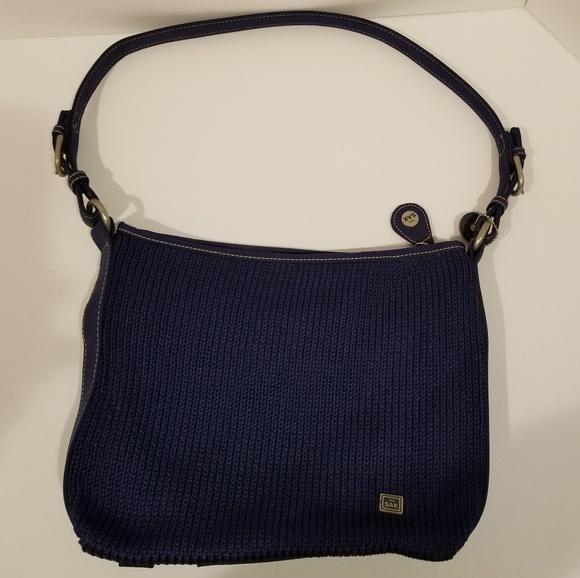The Sak Bags Navy Blue Crochet Purse W Leather Handle Poshmark